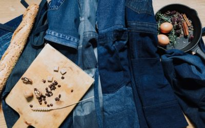 Yours Again upcycled denim aprons for Your sustainable business